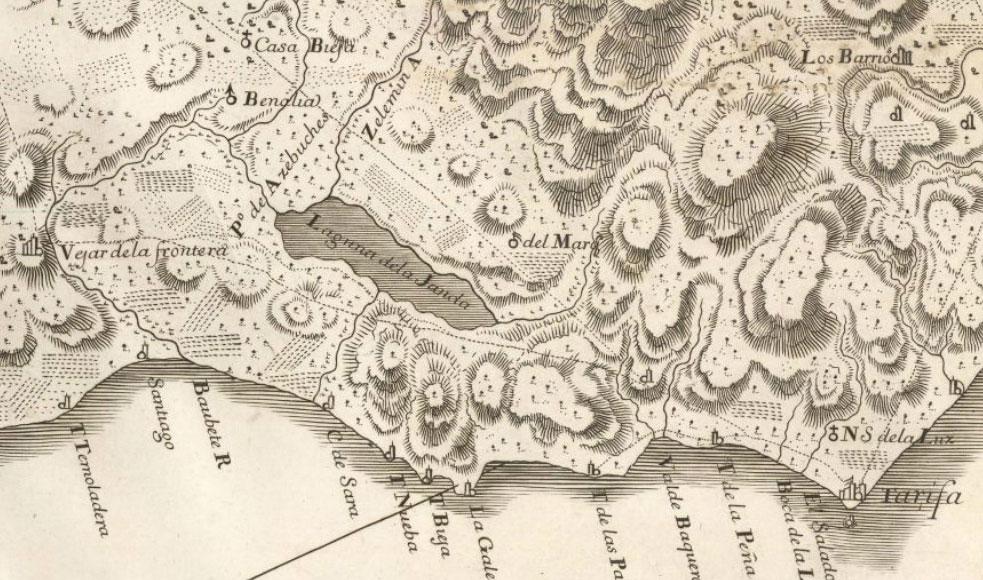 Mapa Cartografía Vejer