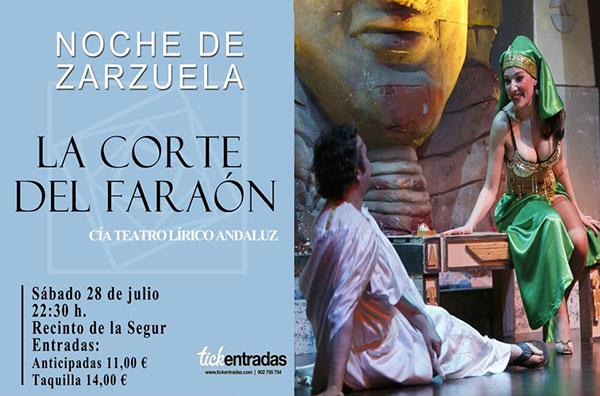 Cartel Noche de Zarzuela - Verano Vejer