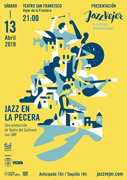Cartel Concierto Presentación Festival de Jazz Vejer