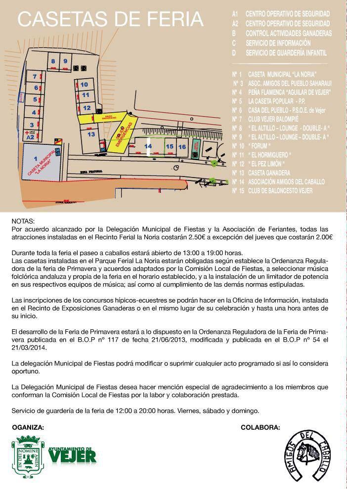 Plano Feria Vejer de la Frontera 2019